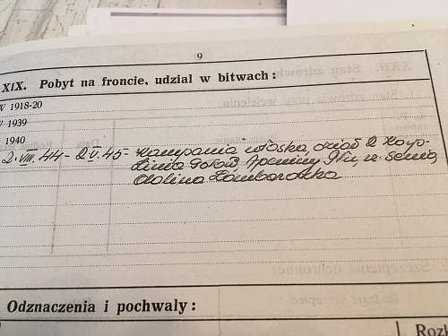 Help Needed! Translation Polish Military records