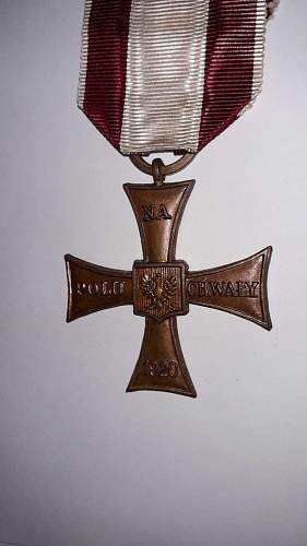 Cross of Valour (Krzyz Walecznych) - Exile Types
