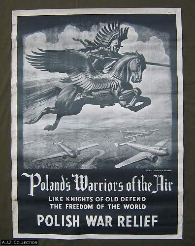 Polish Air Force postcard with Christmas message, 1942. Can anyone identify?