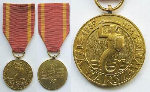 WWII Polish medals and crosses