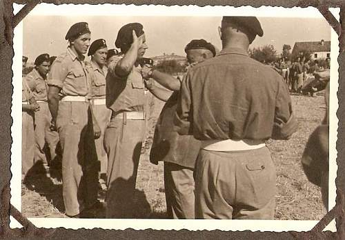 Click image for larger version.  Name:scan0027 Michal recieves Bronze Cross of Merit with Swords from Gen Rakowski.jpg Views:169 Size:62.4 KB ID:182645
