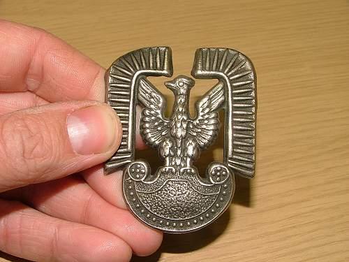 Polish Air Force Cap Badge - Opinions sort