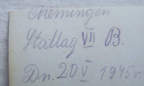 Click image for larger version.  Name:Memmingen Stallag VII B May 20 1945.jpg Views:443 Size:34.6 KB ID:209427