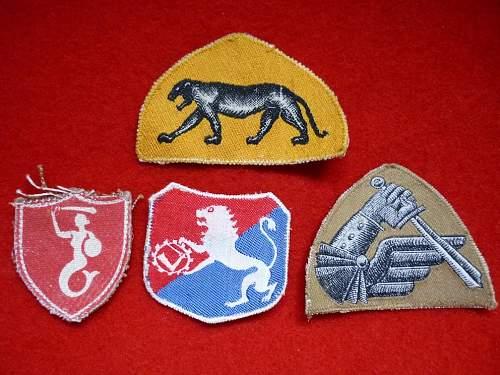 What units do these cloth badges designate?