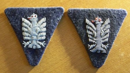Collar patches and collar eagle