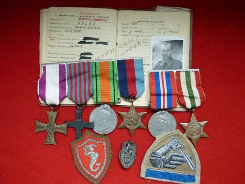 Valour Cross and Monte Cassino Cross group