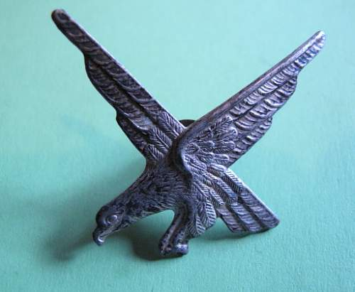 Mistery metal eagle badge: Polish?  Airborne?