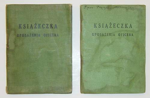 Click image for larger version.  Name:Polish Officers paybooks..jpg Views:170 Size:230.8 KB ID:26332