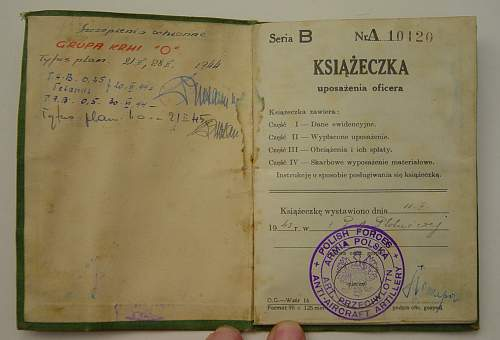 Click image for larger version.  Name:Polish Officers paybook inside 1..jpg Views:223 Size:168.4 KB ID:26333