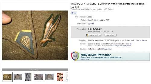 Ebay items from para regiment