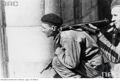 Name:  Polish soldier in Belgium with P38 or what.jpg
