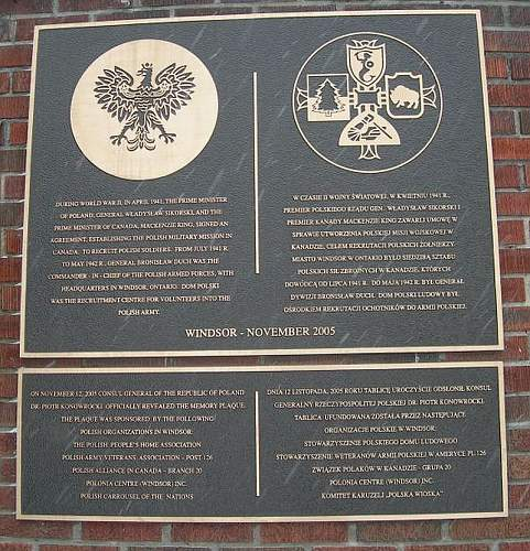 Click image for larger version.  Name:Canadian Recruitmant WW2 - Windsor plaque e.jpg Views:426 Size:173.8 KB ID:305848