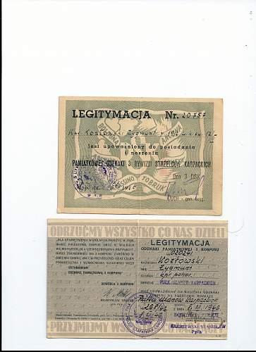 Click image for larger version.  Name:KOZLOWSKI 3 DSK AND POLISH 2ND CORPS LEGITIMACIA.jpg Views:127 Size:255.8 KB ID:318264