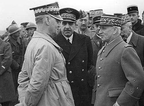 Click image for larger version.  Name:3rd May 1940 1st Grenadier Division review General Sikorski with French Generals Denain and Requ.jpg Views:1362 Size:84.9 KB ID:386290