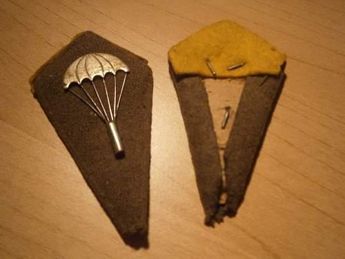 polish parachute collar kites ww2?