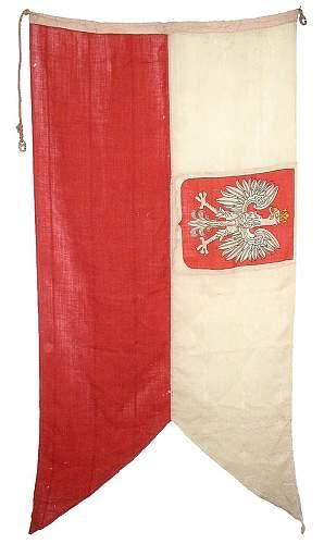 Click image for larger version.  Name:Polish - English WW2 Naval Ensign - O.R.P. Garland $750.jpg Views:213 Size:100.5 KB ID:436426