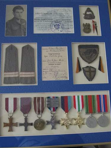 Valour Cross and Monte Cassino Cross group
