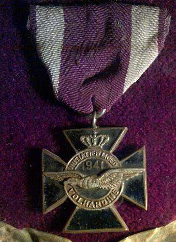 Netherlands silver /enameled DFC  awarded to Polish Pilot RAF
