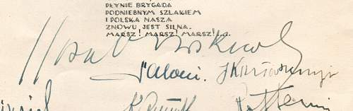 1st Polish Parachute Brigade 23 Sept 1941 - Trying to identify signatures on first parachute wings parade.