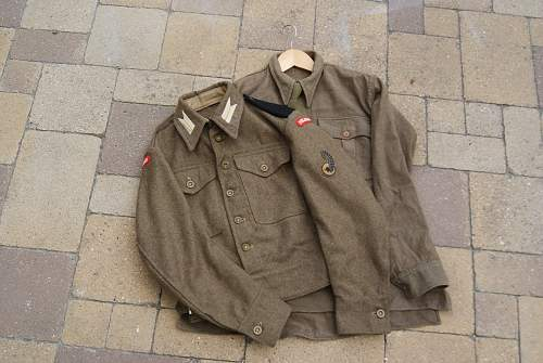 Polish 1st Armoured Brigade Battledress & items