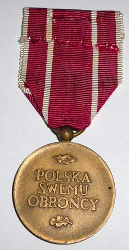 Poland Army Medal for War 1939-1945