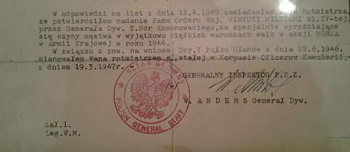 W. Anders document signature