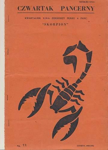 """Anyone have a copy of - Czwartak pancerny : jednodniówka Koła Żołnierzy Pułku 4 Pancernego """"Skorpion"""" nr 41, 1961 ?"""