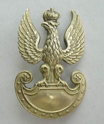 Click image for larger version.  Name:Polish cap badge.British made.jpg Views:3134 Size:155.2 KB ID:59537