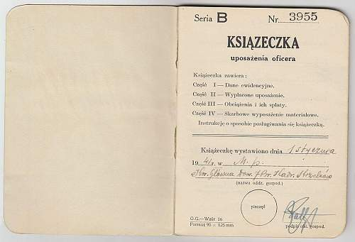 Click image for larger version.  Name:Ksiazeczka Uposazenia Oficera (1).jpg Views:196 Size:203.5 KB ID:597342