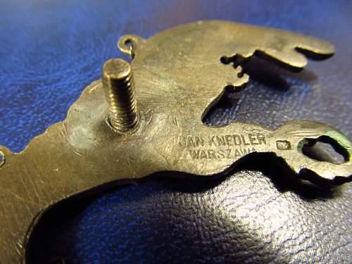 POLISH Knedler PILOTS BADGE ....ORIGINAL ?? opinions sought !!