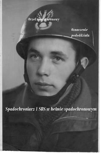 Click image for larger version.  Name:Foto - portret spadochroniarza 1 SBS w hełmie.jpg Views:769 Size:98.9 KB ID:60315