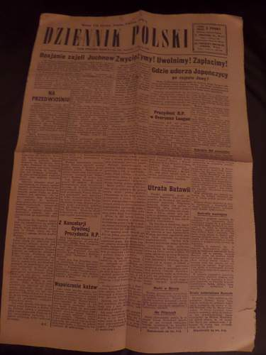 Polish ww2 newspaper