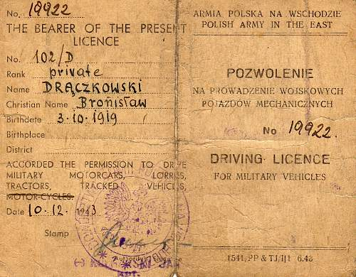 Polish Medals, documents & Red Cross Letter