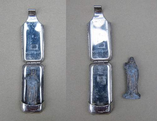 Religious pin brooch