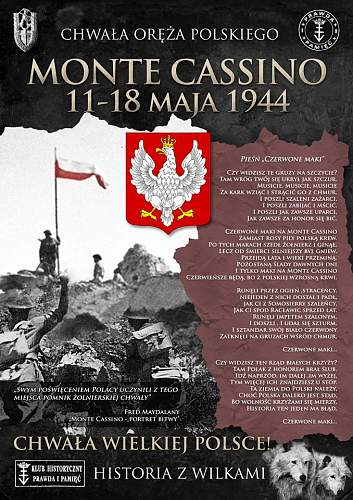Click image for larger version.  Name:Poster for events to Commemorate the 70th Anniversary of the Capture of the Abbey of Monte Cassi.jpg Views:126 Size:186.7 KB ID:690618