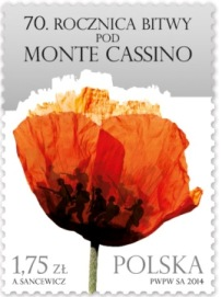 Name:  70th Anniversary of the Battle of Monte Cassino Stamp.jpg Views: 422 Size:  29.8 KB
