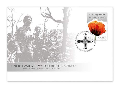 Click image for larger version.  Name:Firstday cover 70th Anniversary of the Battle of Monte Cassino.jpg Views:77 Size:142.1 KB ID:690621
