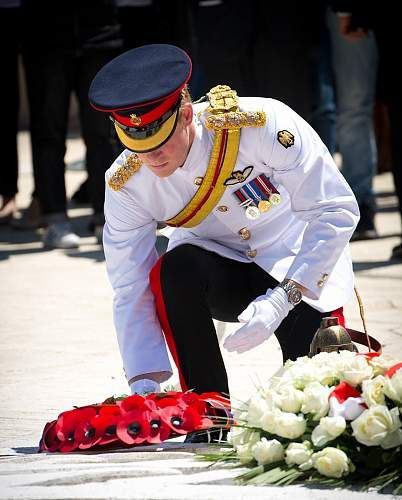 Click image for larger version.  Name:Prince Harry laying his wreath.jpg Views:60 Size:98.9 KB ID:691467