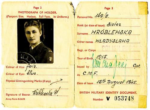 Click image for larger version.  Name:Siostra Wladyslawa Wroblewska MCC 41782 ID Card.jpg Views:176 Size:116.5 KB ID:692566