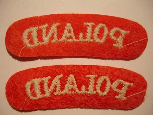 """""""Poland"""" cloth, shoulder insignia"""