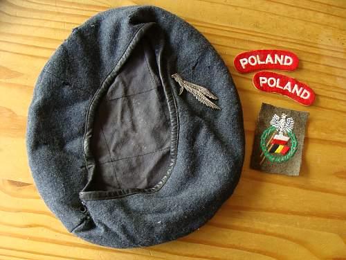 Click image for larger version.  Name:WW2 Polish Airborne Beret para polonais + insignes 1.jpg Views:530 Size:249.0 KB ID:70723