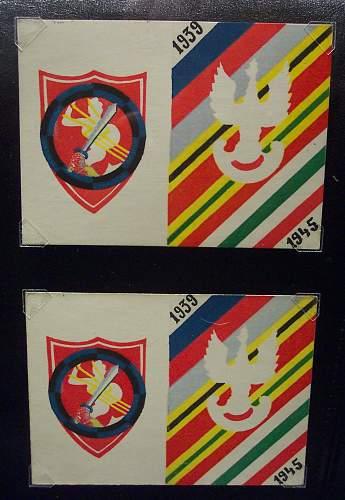 Polish badges / medals paperwork