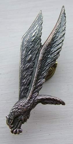 Kirkwood Polish Parachutist Badge No. 464