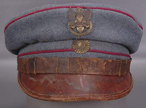 Click image for larger version.  Name:Polish WWI Legion In Austria Officer's Field Cap $1725 Buy It Now unsold.jpg Views:668 Size:43.8 KB ID:74390