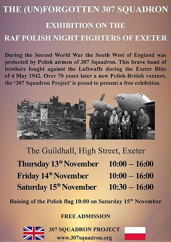 The (un)forgotten 307 Squadron: Exhibition on the RAF Polish night fighters of Exeter