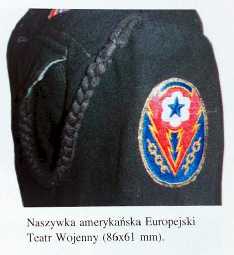 Brygada Świętokrzyska NSZ post-WWII US labour guard service arm patch
