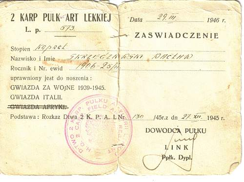 Click image for larger version.  Name:Zaświadcz- 2 Karp Pulk Art Lekiej.jpg Views:99 Size:222.6 KB ID:766937