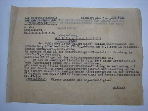 Polish Forced Labour (Zwangsarbeiter/Fremdarbeiter) collection