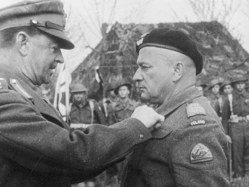 Click image for larger version.  Name:After the Battle of Ancona General Bronislaw Rakowski receiving the ribbon of the DSO from FM Al.jpg Views:101 Size:132.6 KB ID:816495