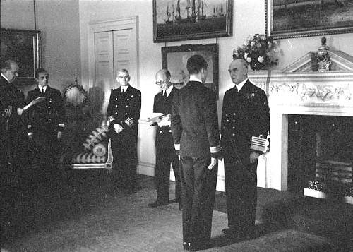 Click image for larger version.  Name:28th July 42 Admiralty House AoF Sir Dudley Pound about to award the DSC to Jerzy Koziolkowski.jpg Views:249 Size:104.4 KB ID:818526